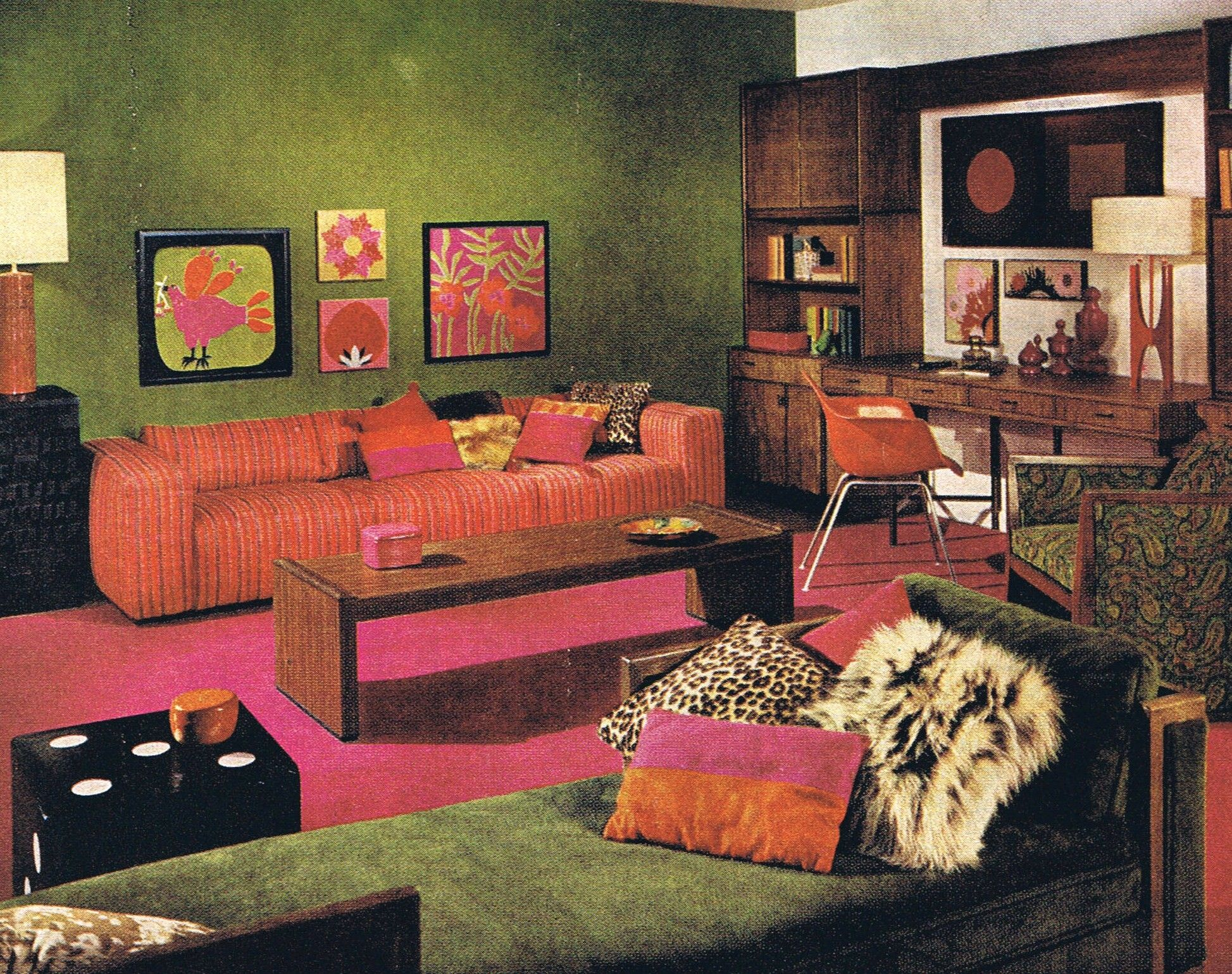 American Modern Style Better Homes And Gardens 1967 Mid Century Modern Interior Design