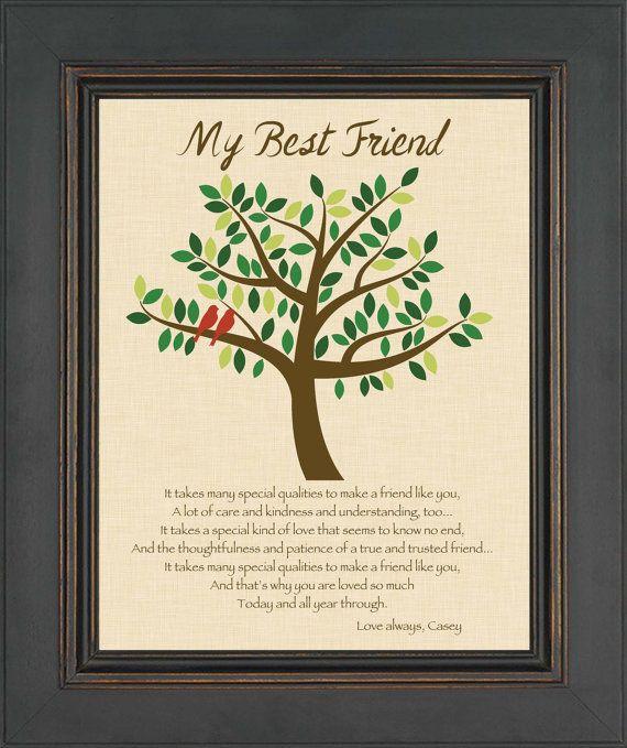 Grandma gift family tree 8x10 custom print for Gift for close friend