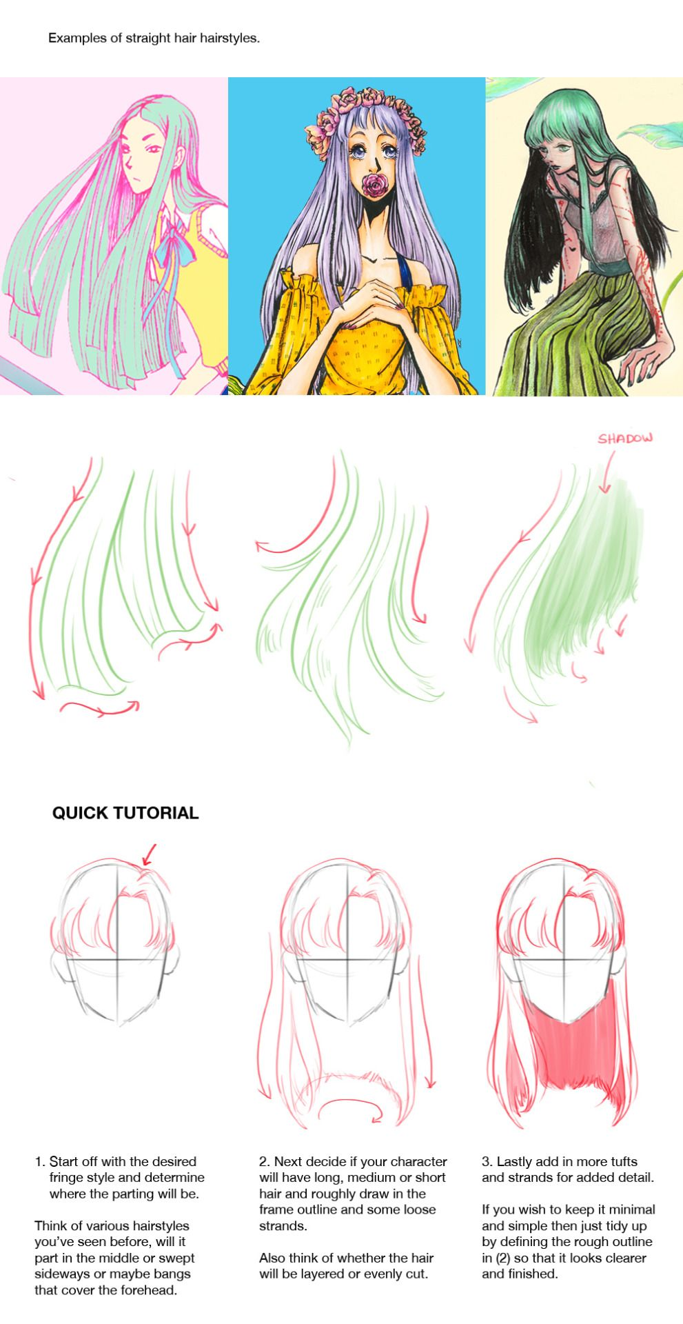 How To Draw Hair Tumblr How To Draw Hair Drawing Tutorial Drawings
