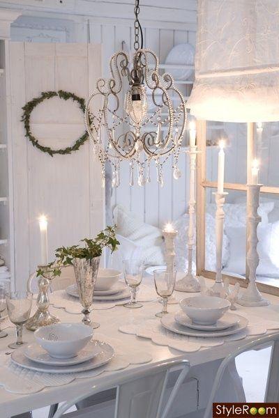 All white dinner