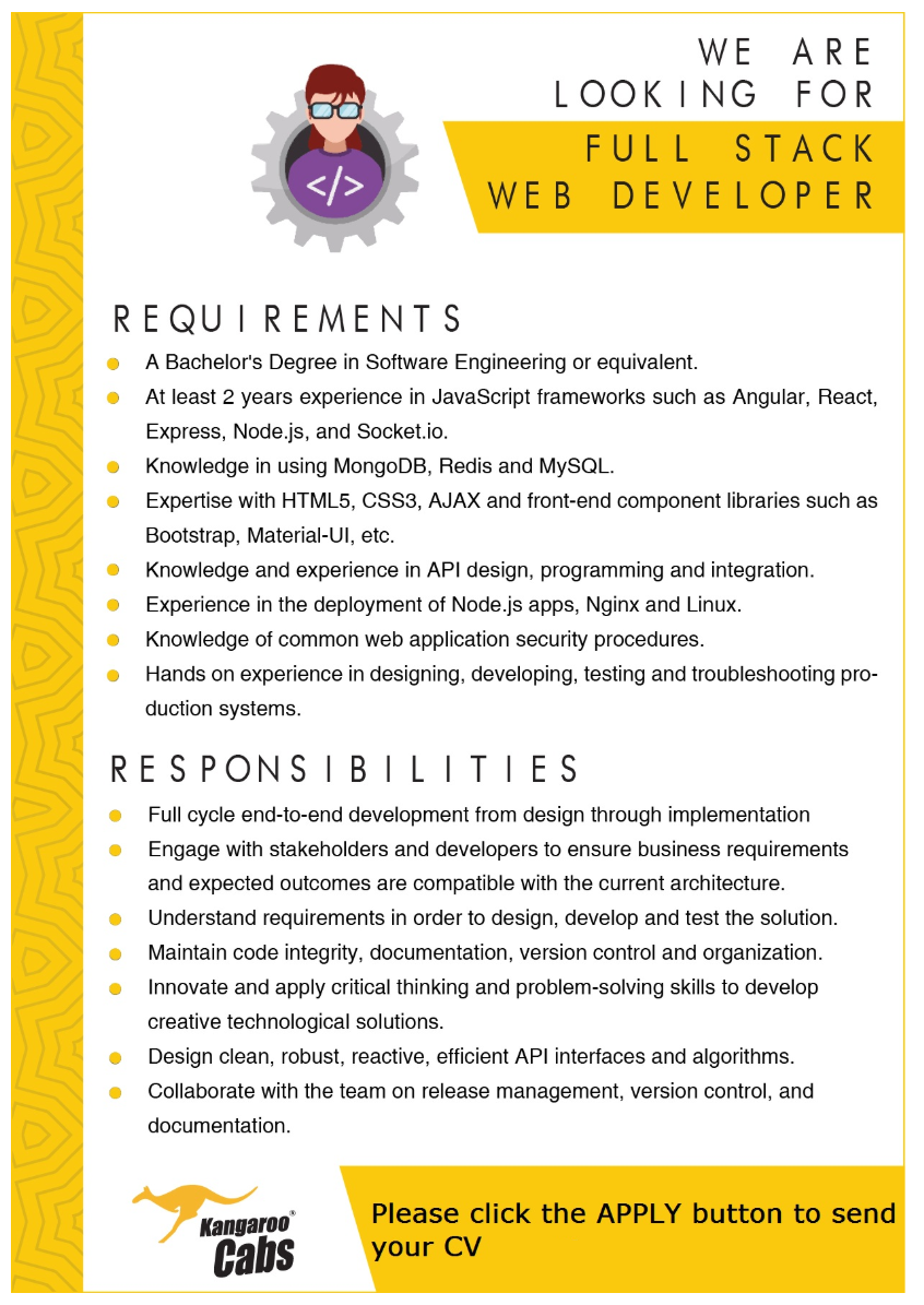 Full Stack Web Developer Web Development Full Stack Technology Job