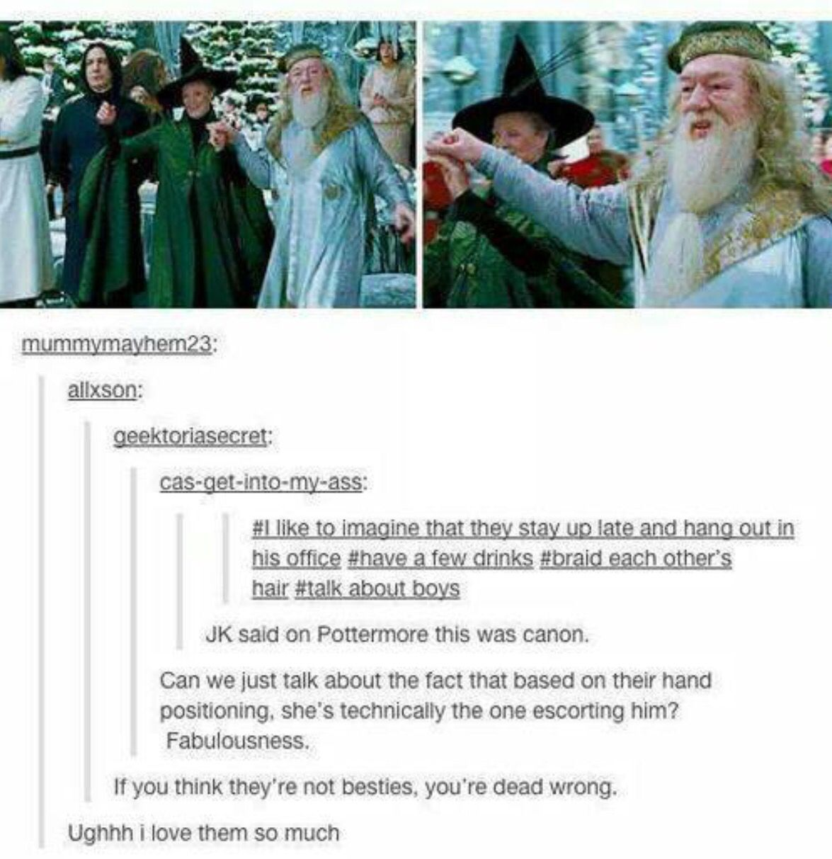 Dumbledore & McGongall are perfect ❤