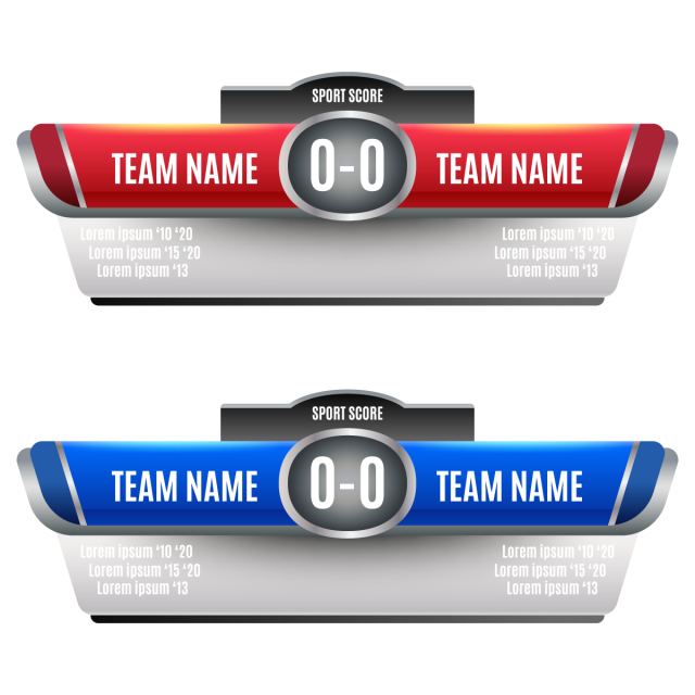 Scoreboard Elements Design For And, Soccer, Scoreboard PNG