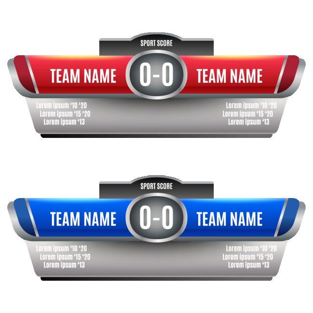 Scoreboard Elements Design For And Soccer Scoreboard Png