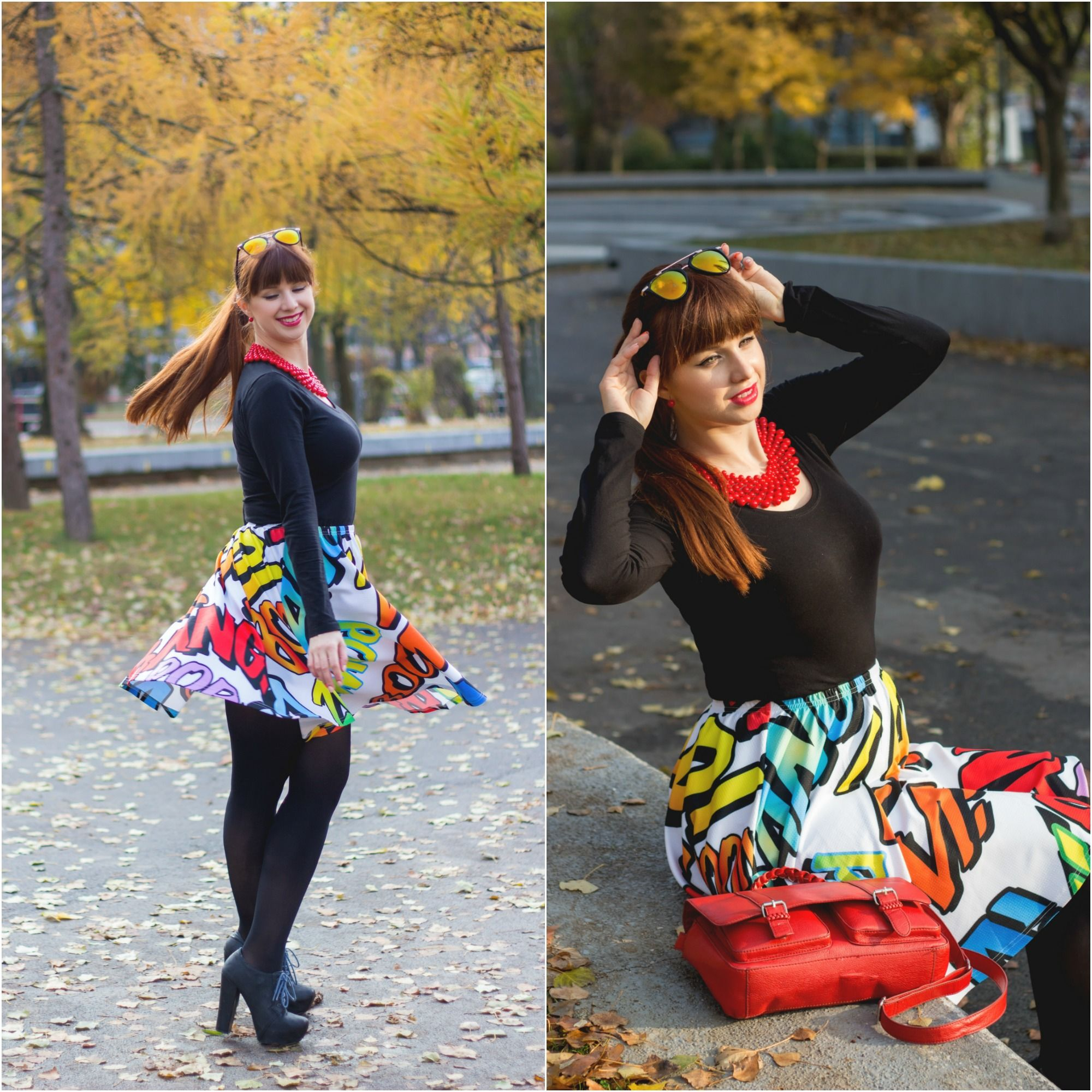 comics aline skirt curvy autumn cowcow