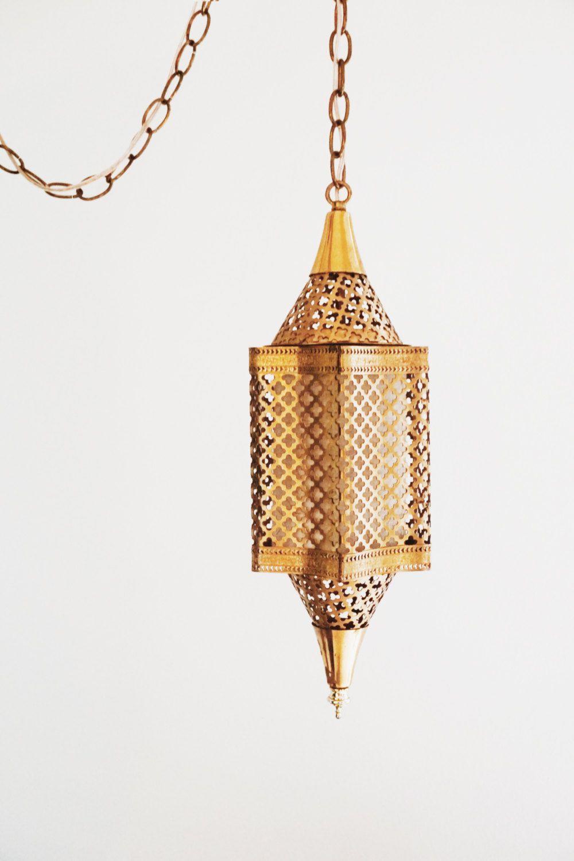 vintage lighting pendants. Vintage Moroccan Brass Swag Light, Red Mid Century Modern Pendant 1960s Bohemian Lamp, Boho Hanging Lantern, Lighting More Pendants