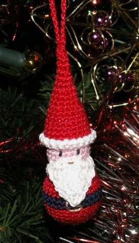 encore un Bobulle en tuto gratuit  Père Noël au crochet