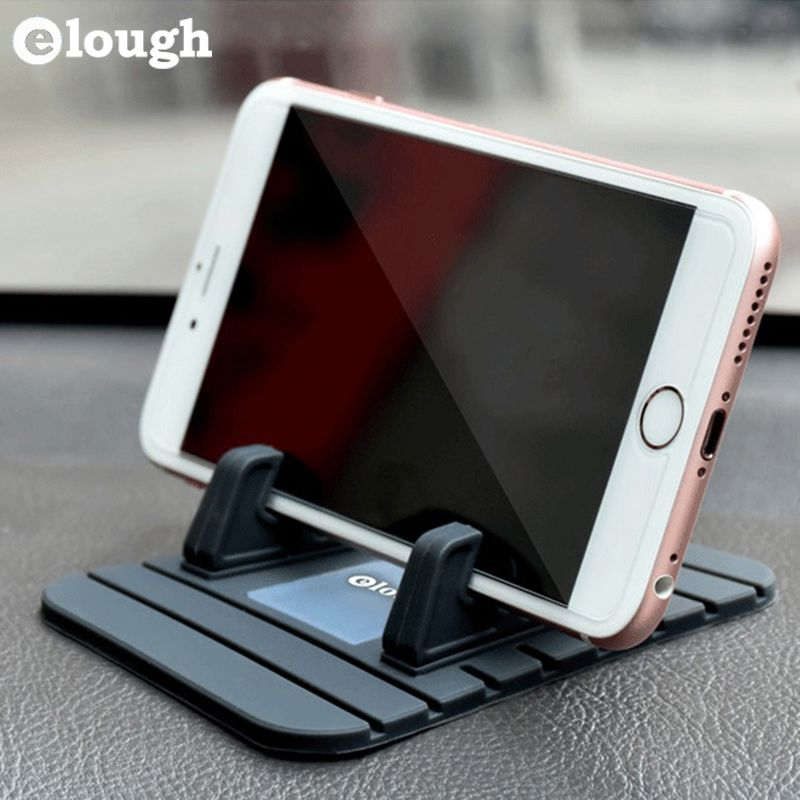 Elough Universal Mobile Car Holder Soft Silicone Car Mount Holder Support For iPhone Car Holder Phone Stand GPS Car Phone Holder