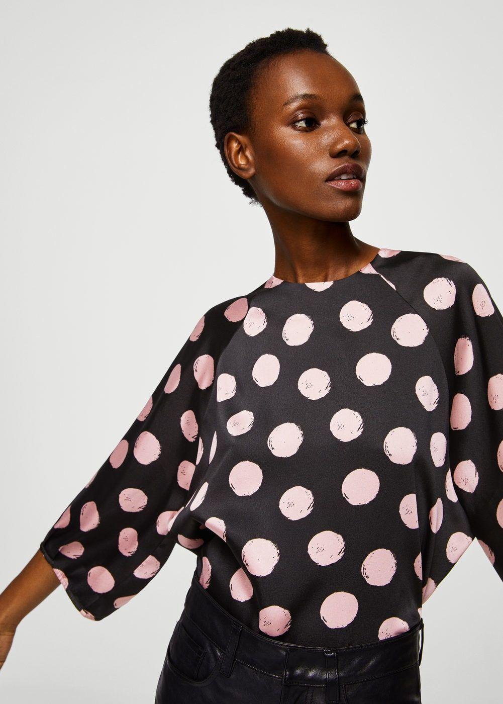 Blusa lunares Mujer | Blusas, Blusa de lunares y Camisas mujer