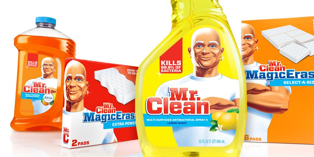 """Although he has been in our homes since 1957, Mr. Clean's significance as a  brand icon has diminished over time. Co-brands and endorsements have come  to dominate his packaging and a majority of the brand's communications.  This led Chase to wonder: what happened to the """"Mr."""" in Mr. Clean?"""