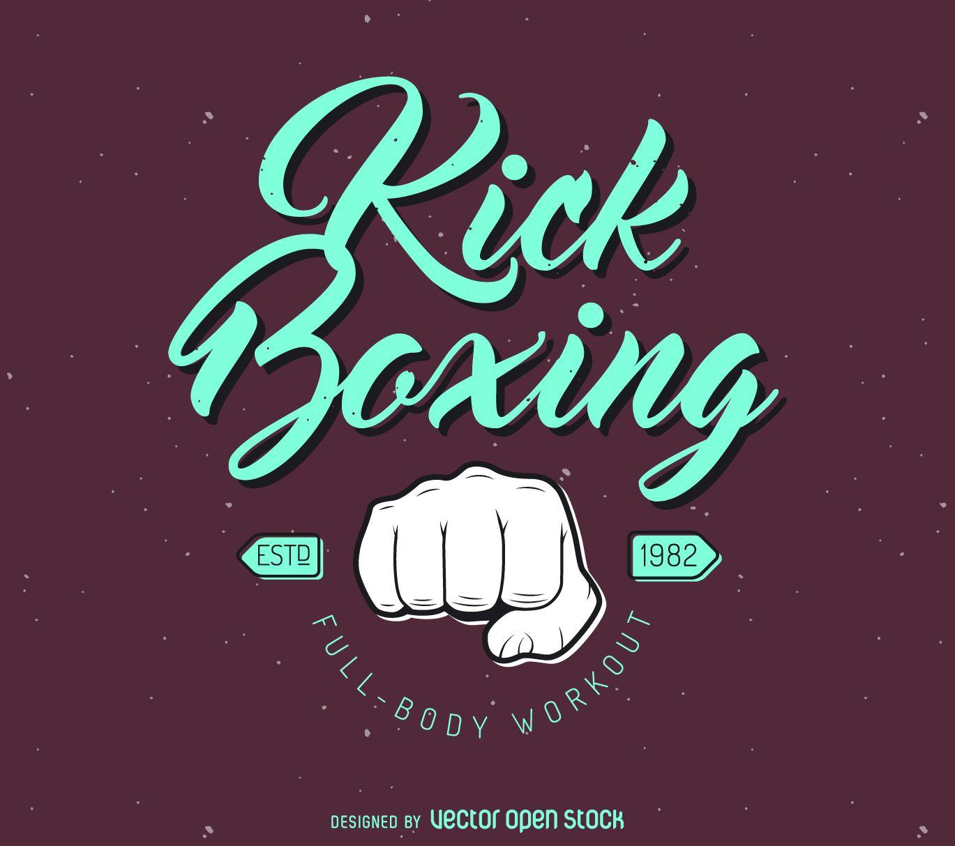 Kick Boxing Logo Template