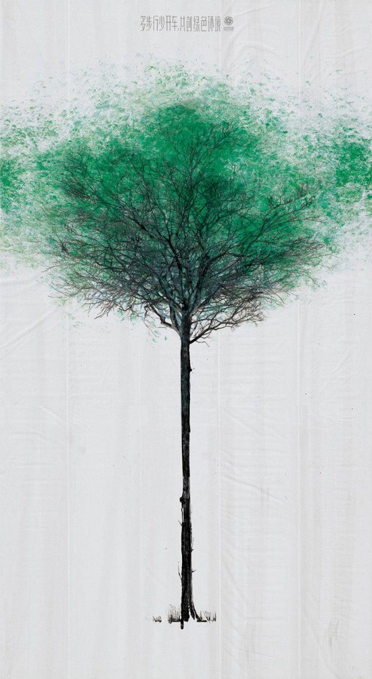 tree-1-640x1168. una acció al carrer creada per DDB Xina i la China Environmental Protection Foundation. Es tracta d'un pas de vianants que amb la participació dels peatons es va convertint en un arbre ple de fullatge verd