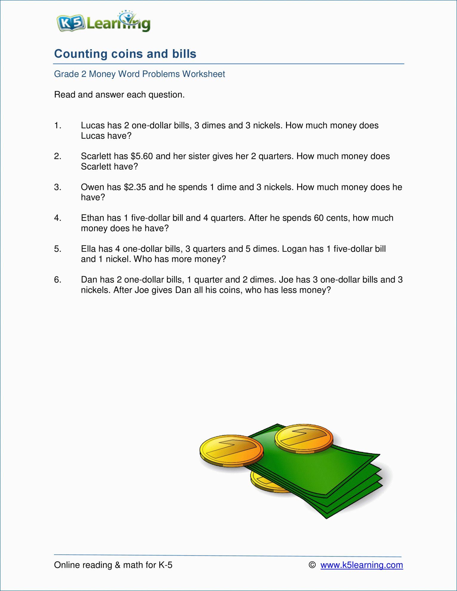 8 Reading Bills Worksheet