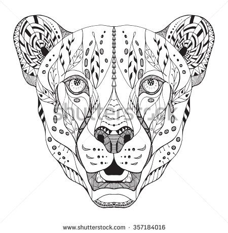 Zentangle Stock Photos, Images, & Pictures | Shutterstock | тигры ...