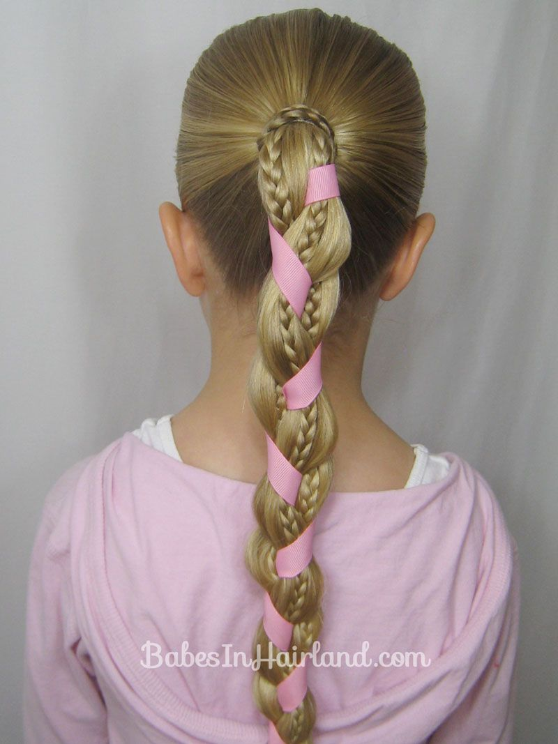 Braids And Ribbon Hairstyle