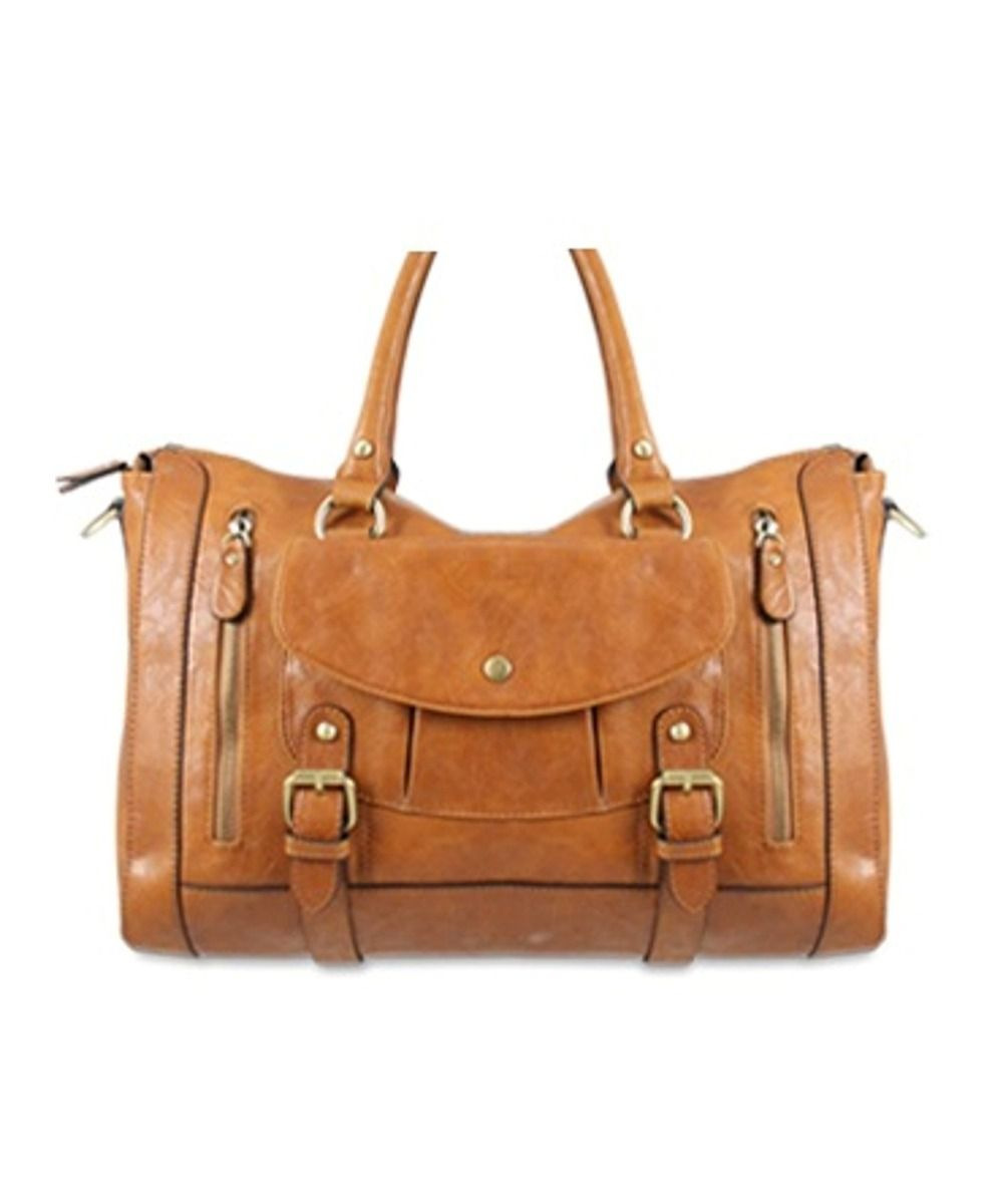 Melie Bianco Brandy Satchel in Saddle