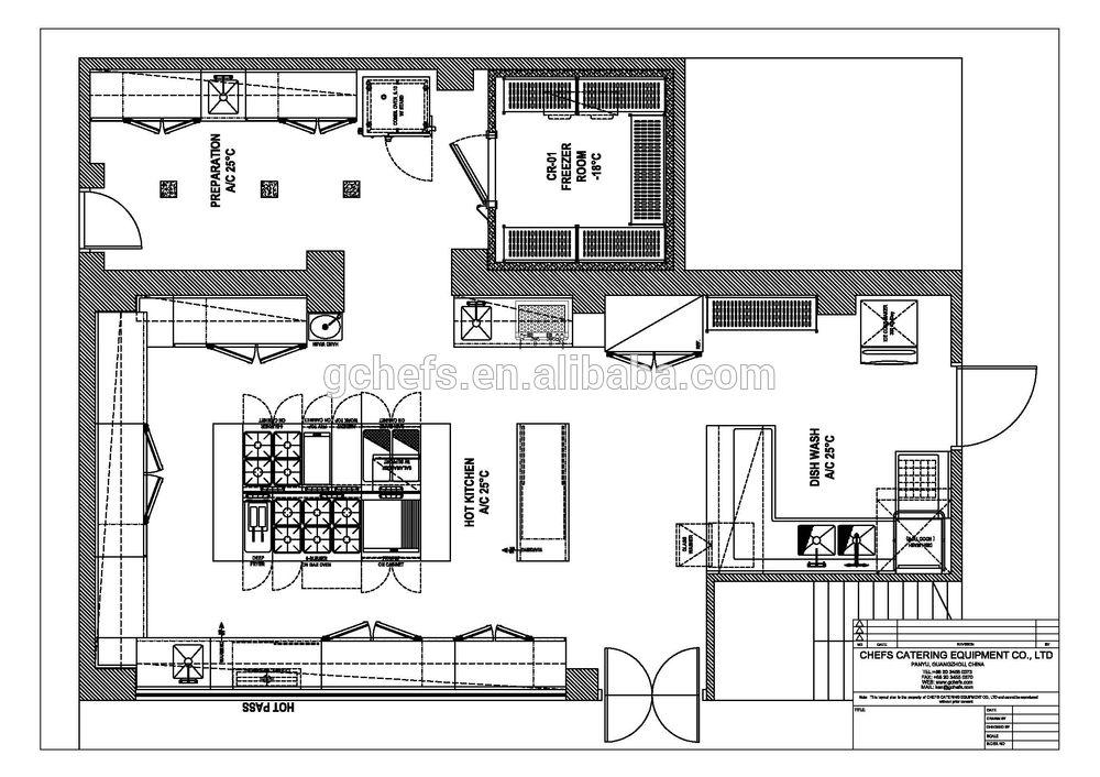 Moderno Restaurante De Cocina Planes De Diseño Colección de Imágenes ...