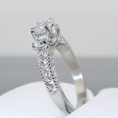 luxuriou kvinders gliten cubic zirconia tone krone ring – DKK kr. 68