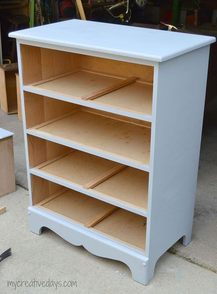 dresser with combo bookshelf and bookcase