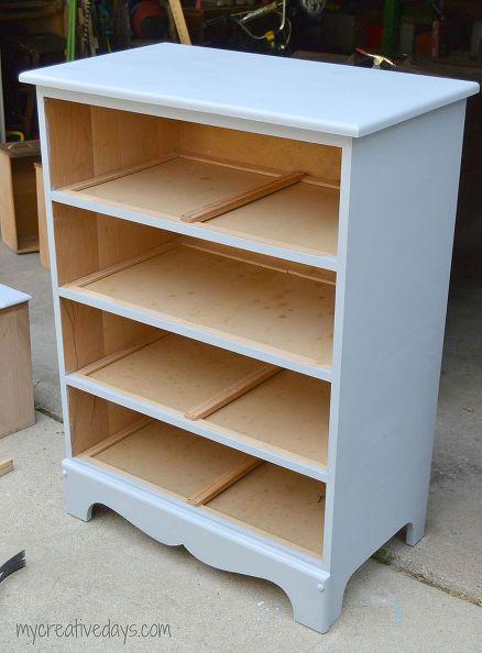 Painted Furniture Dresser Bookshelf Repurpose Antique Repurposing Upcycling Shelving Ideas Storage