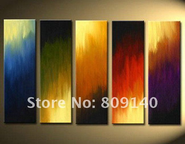 Abstract Oil Painting Canvas Artwork Quality Handmade Modern