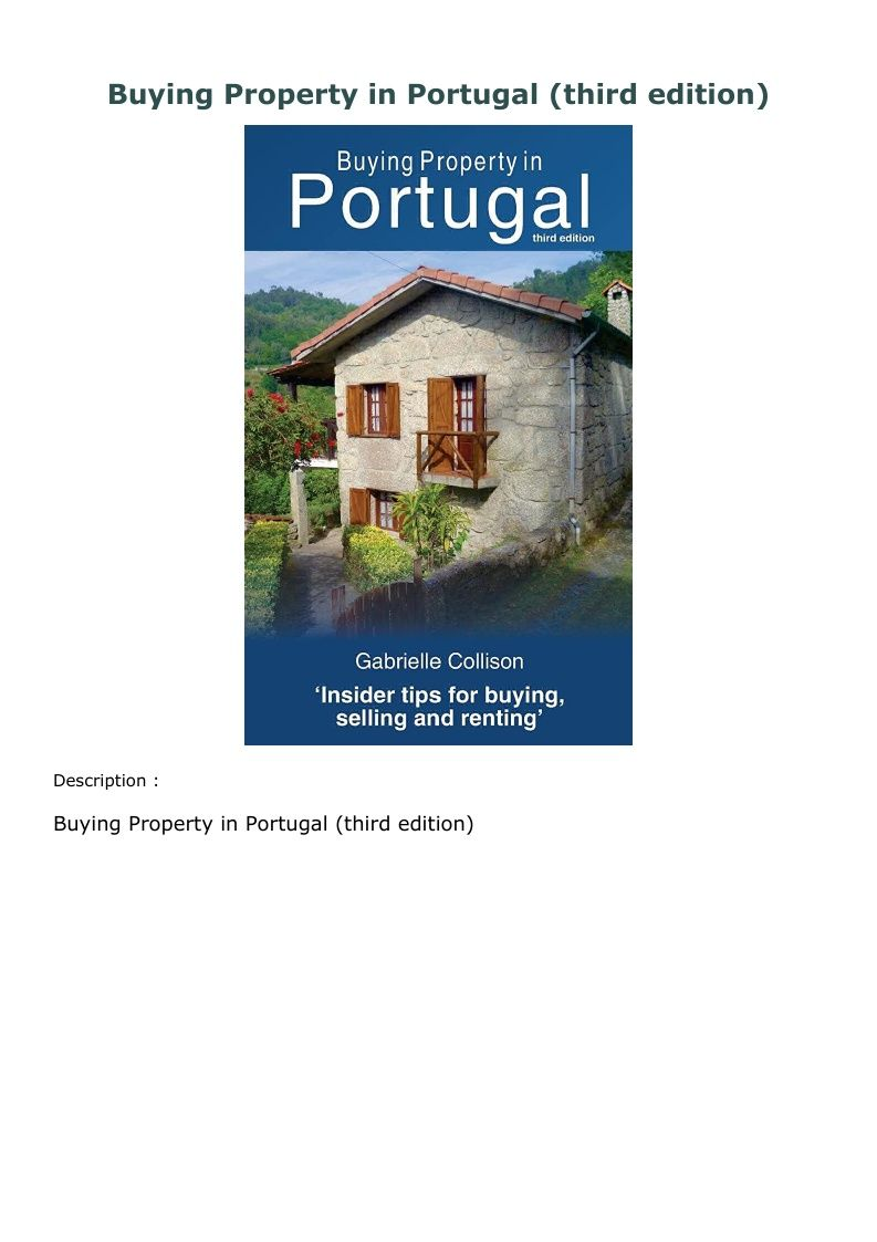 Download Pdf Buying Property In Portugal Third Edition
