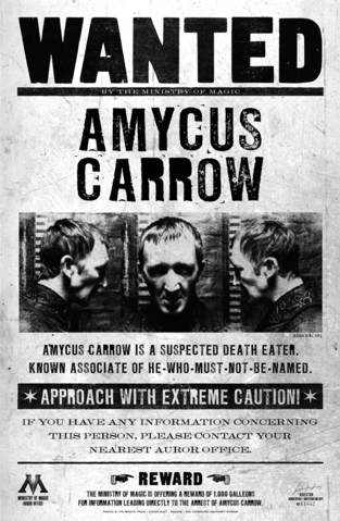 picture relating to Harry Potter Wanted Posters Printable referred to as Amyus Carrow - Harry Potter ideal posters printable within superior