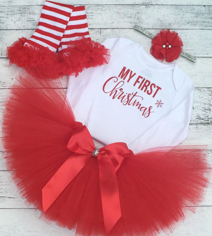 Baby Girl Christmas Outfit My First Christmas Tutu Baby Girl
