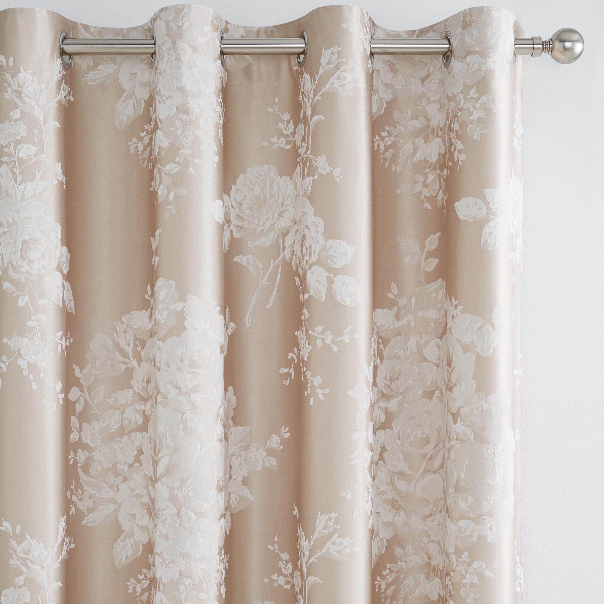 Laura Natural Jacquard Thermal Eyelet Curtains in 2020