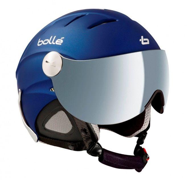casque de ski boll slide visor matt night blue. Black Bedroom Furniture Sets. Home Design Ideas