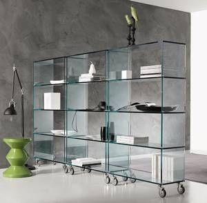 Tonelli Libreria Glass Storage, Bookcase | Contemporary ...