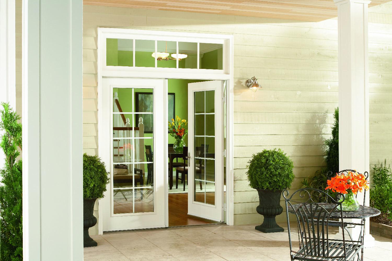 Hinged Glass Patio Doors Swinging Patio Doors Simonton Windows Doors In 2020 French Doors Exterior French Doors Patio Replacement Patio Doors