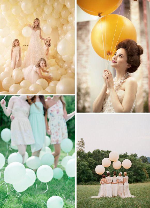 decoracin para bodas con globos de colores