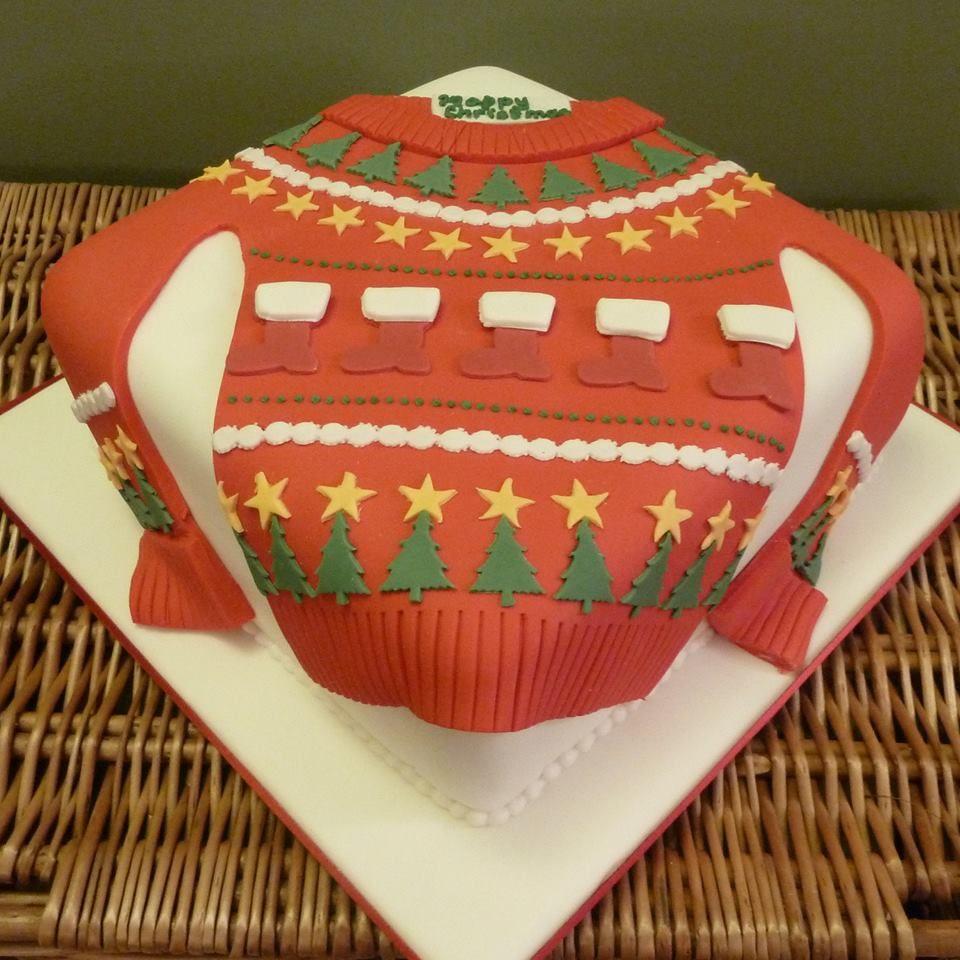 Christmas Jumper cake from www.cakesbykit.com | Christmas cake decorations, Christmas cake, Making fondant