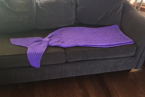 Mermaid Tail Blanket Knitting Pattern Childrens Size Mermaid