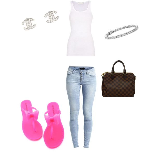 Untitled #8 by sammielee26 on Polyvore featuring polyvore fashion style Faith Connexion Object Collectors Item Louis Vuitton Blue Nile Chanel