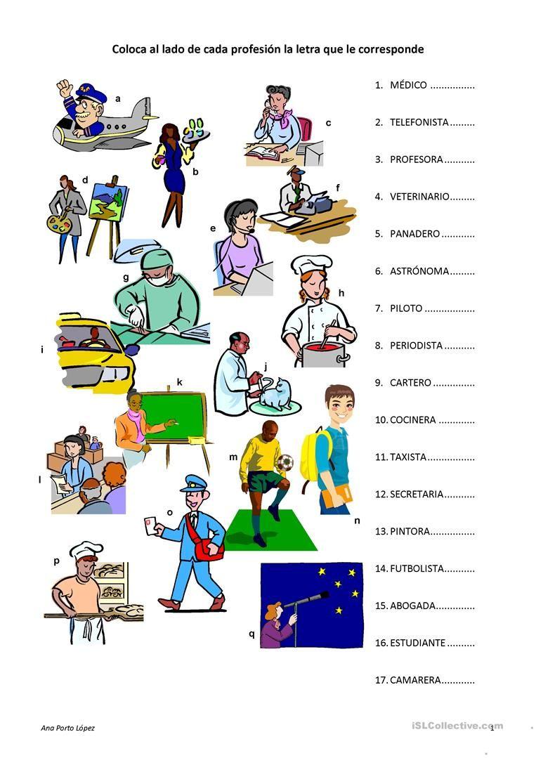 Profesiones | ELE / enseñanza | Pinterest