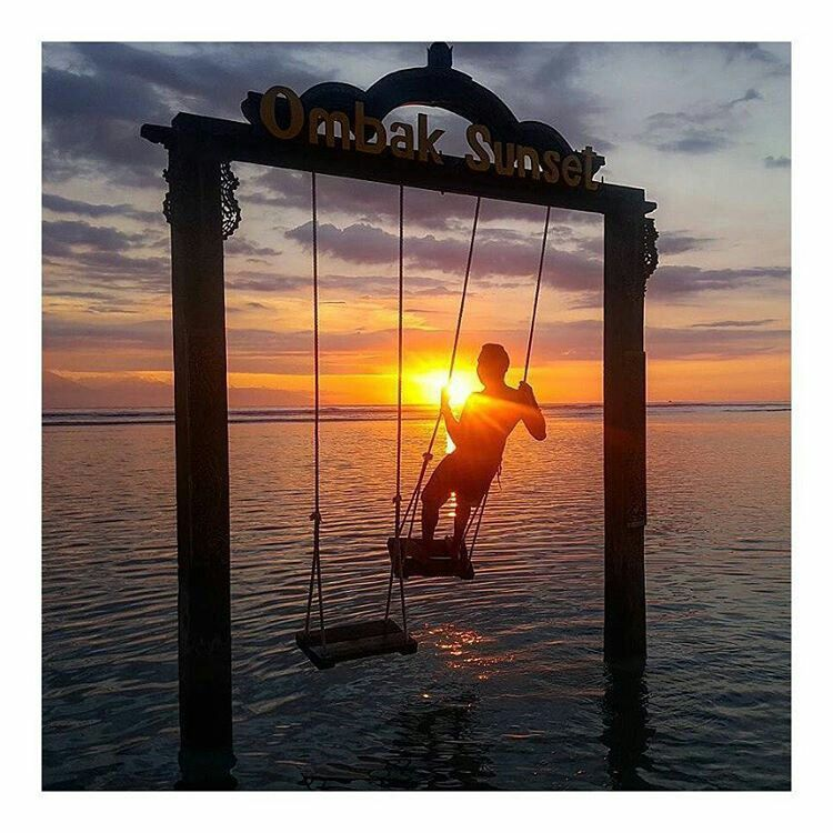 Simply a beautiful sunset in style ❤️. Location: Ombak Sunset Resort, Gili Trawangan (Indonesia). Photo: @xurferito. Tag #123wander and @123wander to get featured on our instagram and website!