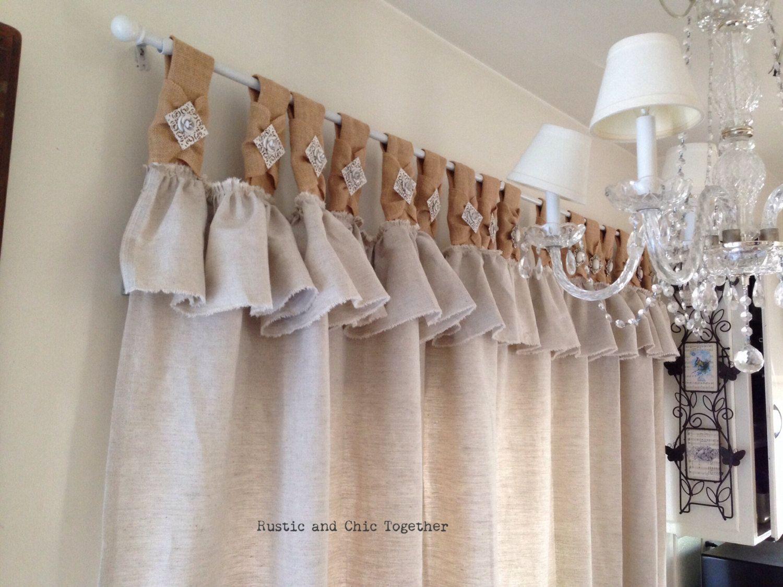 Resultado de imagen para tela para cortina rustica carmen pinterest cortinas rusticas - Telas rusticas para cortinas ...