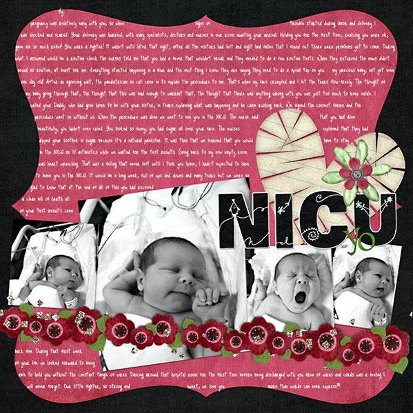 scrapbooking layouts for preemies   ... or Baby Girl kits & Preemie LO's - DigiShopTalk Digital Scrapbooking