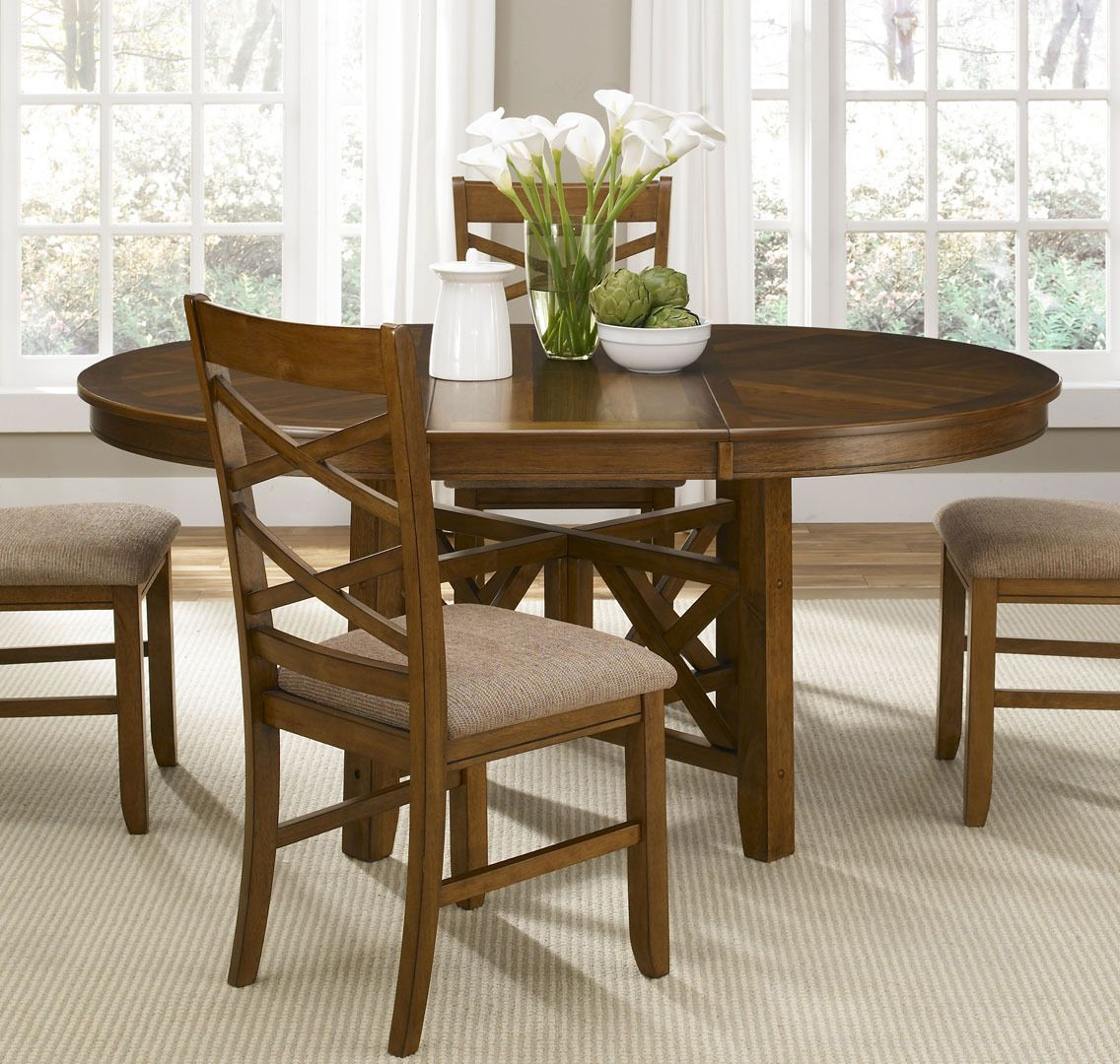 Bistro Round Oval X Base Dining Table By Liberty Home Gallery Stores Oval Table Dining Dining Table Sizes Round Dining Room Table