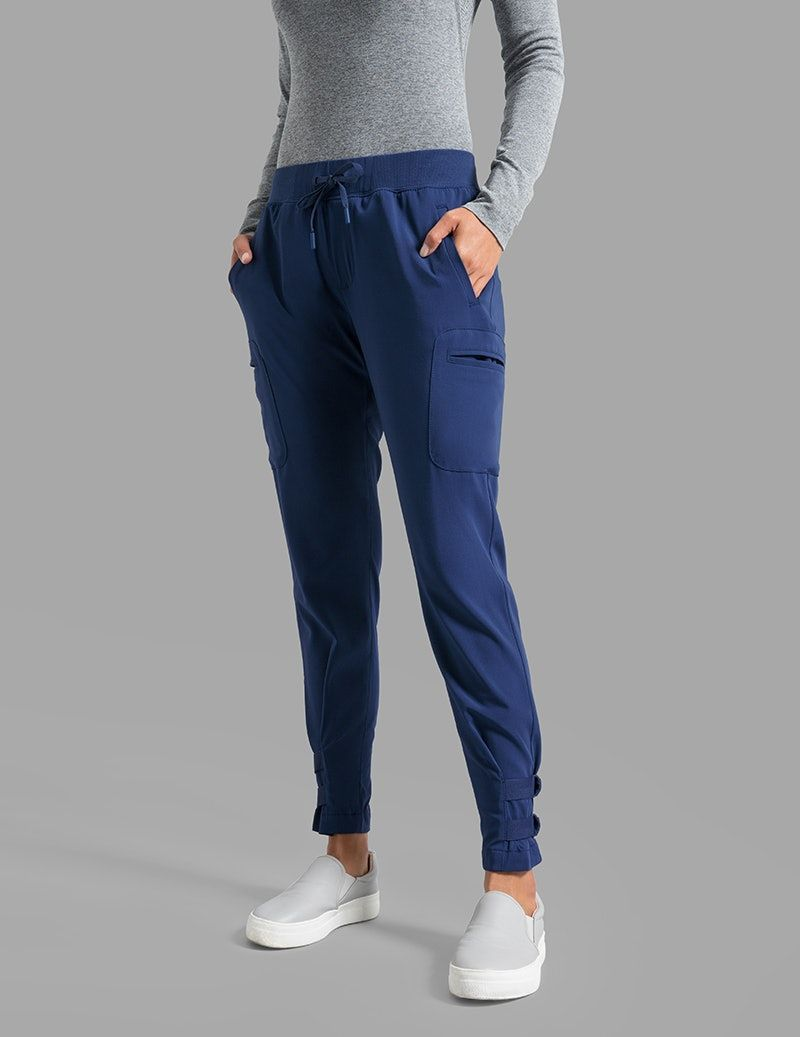 511dc5477 Buckle Hem Jogger Pant in Estate Navy Blue - Medical Scrubs in 2019 ...