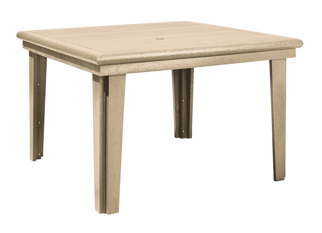 "C.R. Plastic Products T10 Dining Table w/Legs, 47"" Square (Base Incl.)"