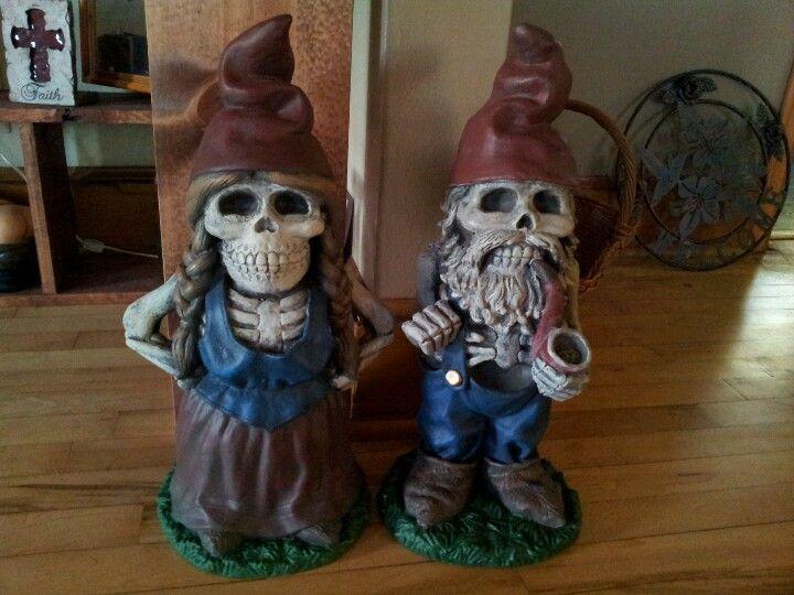 Skeleton Garden Gnomes Found Them At Shopko Gnome