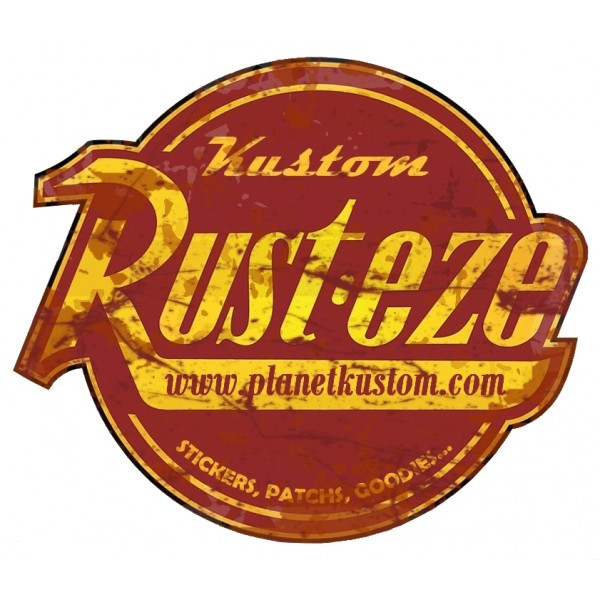 Sticker Planet Kustom Rust Eze Used Stickers Patchs Goodies Rats Autocollant Stickers