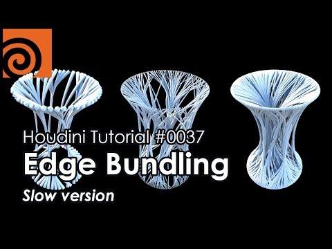 [Houdini Tutorial] 0037 Edge Bundling (Slow version