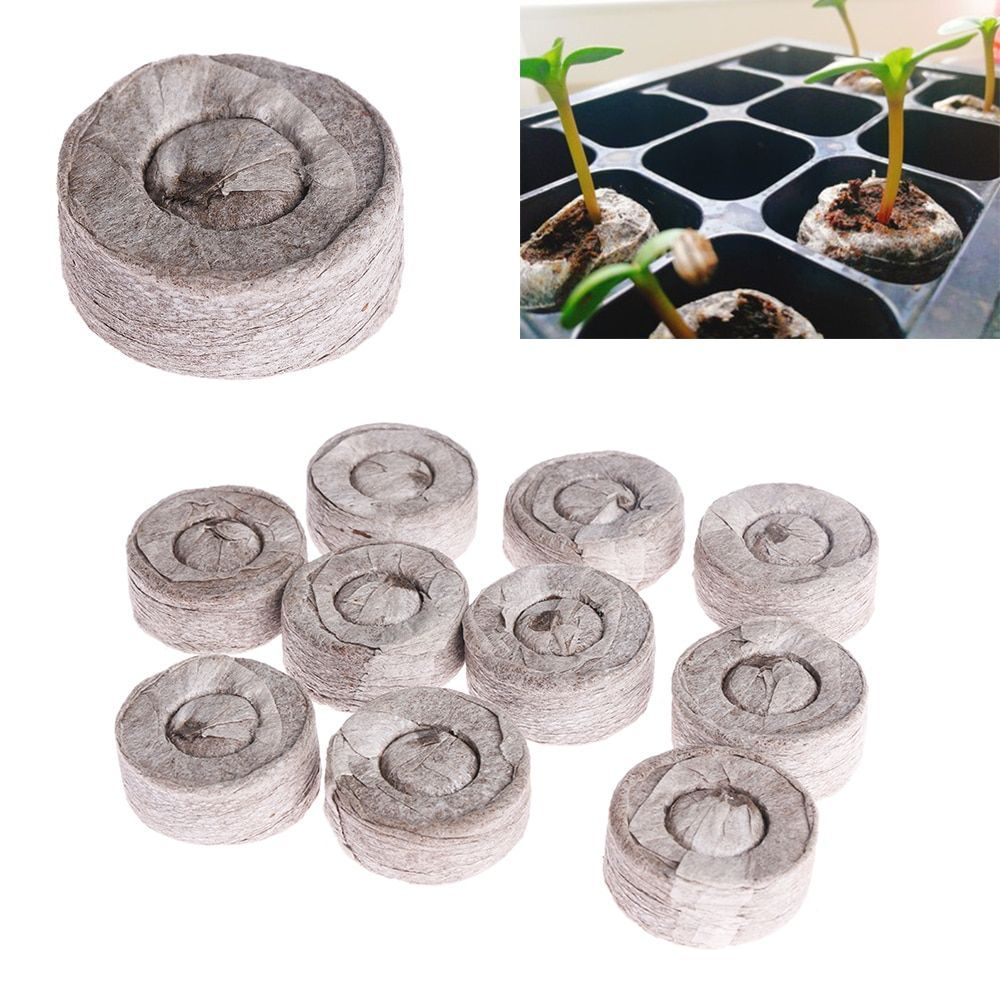 Compressed Block Potted plant Nursery Pot Seed Nutritional Soil Peat Pellets