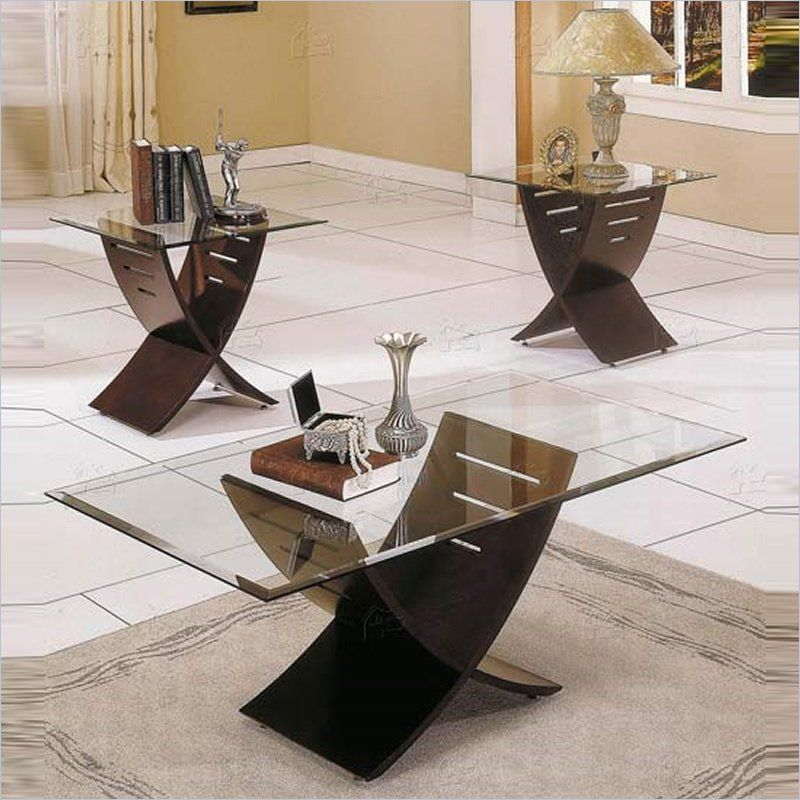 Steve Silver Company Cafe 3 Piece Coffee Table Set in Espresso ...