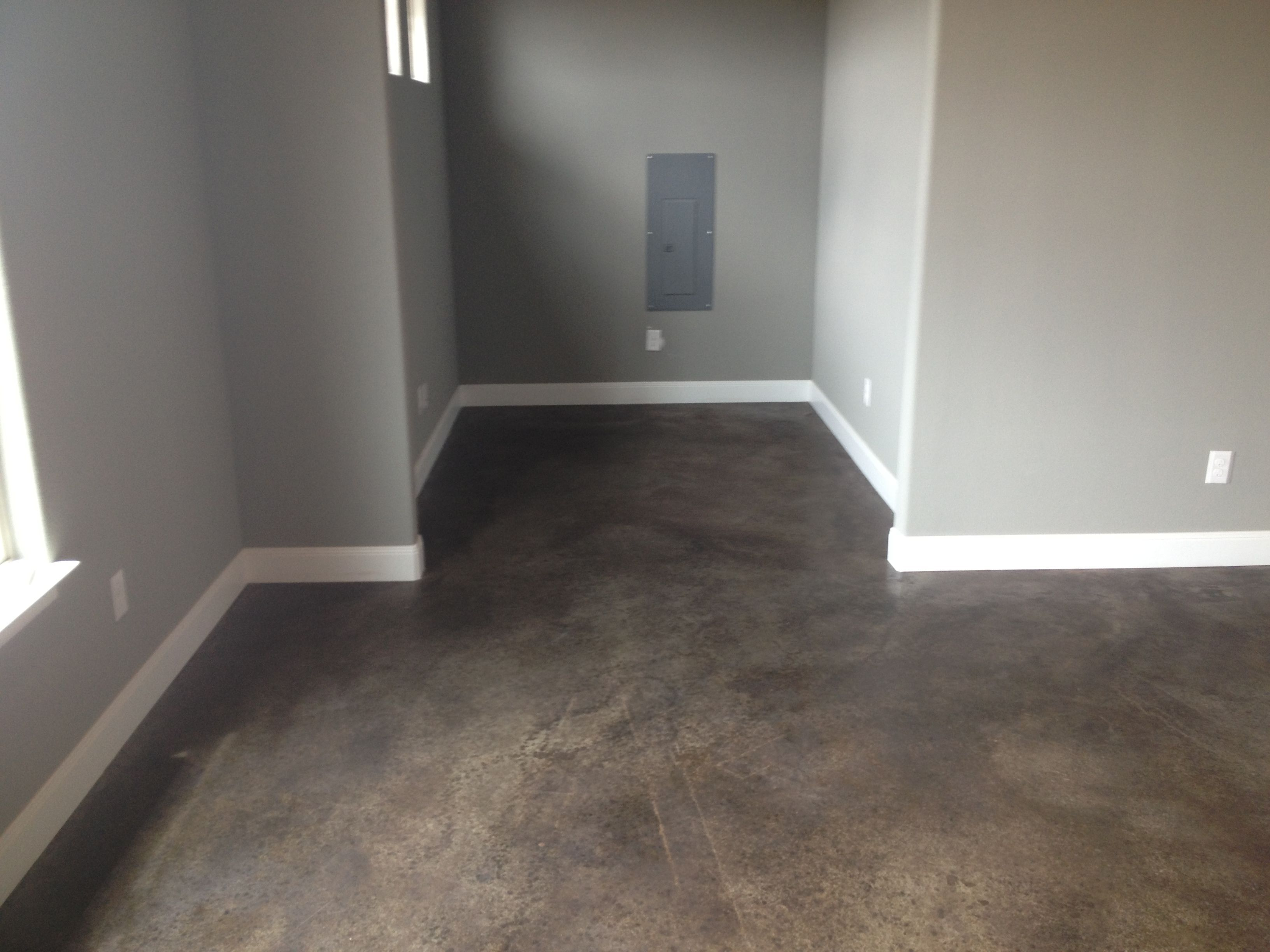 Stained Concrete Floors Concrete Stained Floors House Flooring Concrete Floors