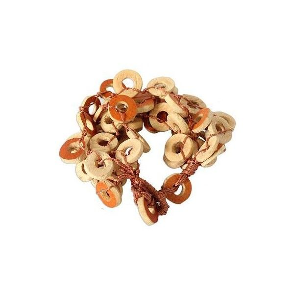 NOVICA Dried Calabash Bracelet (66.275 COP) ❤ liked on Polyvore featuring jewelry, bracelets, beaded, carved jewelry, novica jewelry, beaded jewelry, shell jewelry and sea shell jewelry